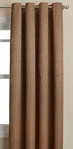 Lothringen Home Fashions Aurora isoliert Rod Pocket Panel, Kakao, 139,7 x 160 cm von Lorraine Home Fashions