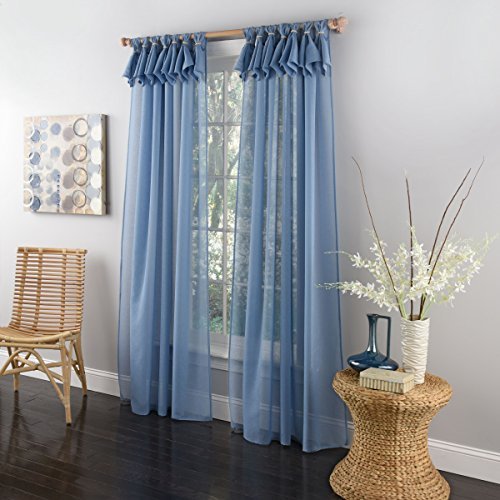 Lothringen Home Fashions Breeze Tab Top Fenster Panel, blau, 137,2 x 213,4 cm von Lorraine Home Fashions