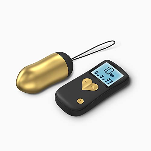 LOVE TO LOVE Secret Bullet Cry Baby, Vibro-Ei 10 Stimulations-Progra mme Ultraweich und Wasserdicht Mit Fernbedienung, Gold von Love