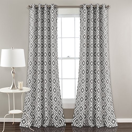Lush Decor Décor Diamond Geo Room Darkening Window Curtain Panel Set, 0, Gary von Lush Decor