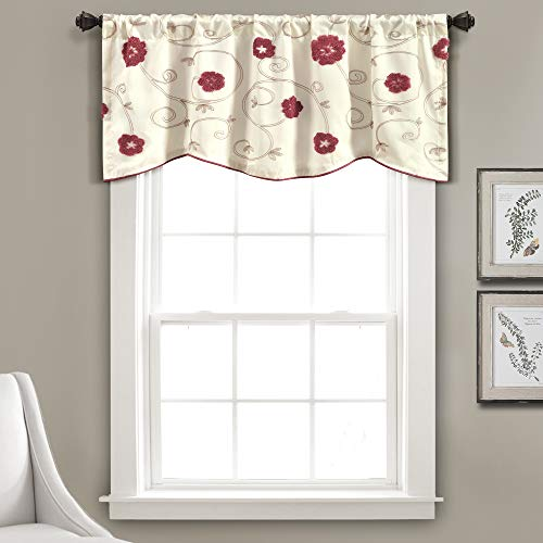 Lush Decor Royal Embrace Valance, rot, Valance von Lush Decor