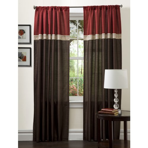 Lush Decor Terra Vorhang Panel Paar, Polyester, Merlot/Chocolate, 54 x 108 von Lush Decor