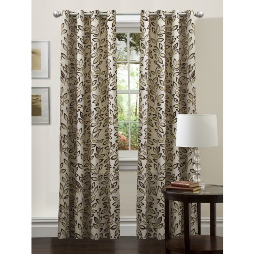 Lush Decor Ventura Panel, Polyester, Taupe, 108 inch by 54 inch von Lush Decor