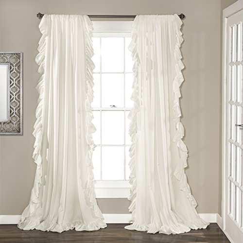 "Lush Decor White Reyna Window Panel Curtain Set for Living, Dining Room, Bedroom (Pair), 120"" x 54"", 120"" x 54"" von Lush Decor"