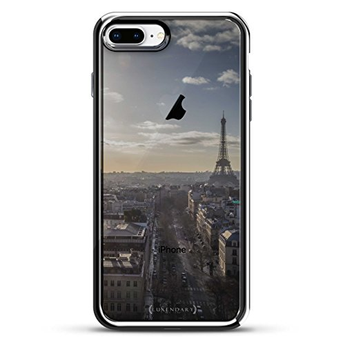 Luxendary LUX-I7PLCRM-PARIS1 Schutzhülle für iPhone 7 Plus, Design Paris Skyline, transparent von Luxendary