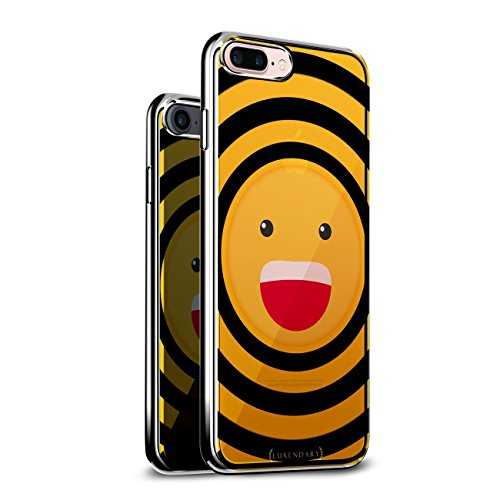 Luxendary LUX-I6CRM-EMOJI6, Chrome Series Case for iPhone 6/6S - Emoji Laughing with Open Mouth Design von Luxendary