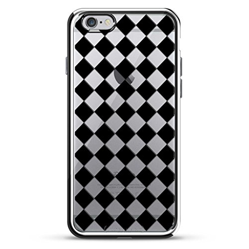 Luxendary LUX-I6PLCRM-CHECKER1 Checker Board Design Chrome Series Case for iPhone 6/6S Plus von Luxendary