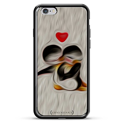 Penguins IN Love Design Chrome Series CASE IN Titanium Black for iPhone 6/6S von Luxendary