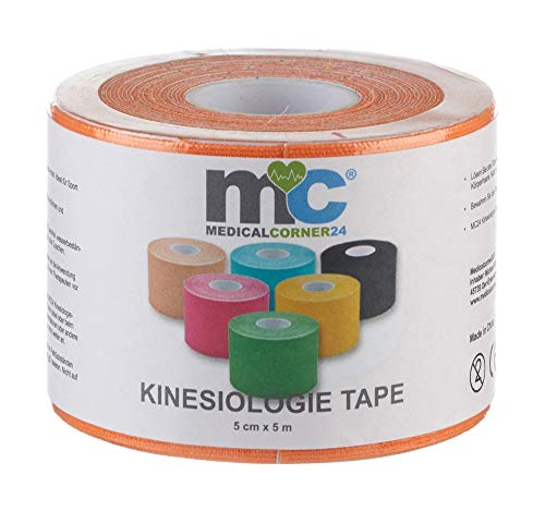 Kinesiologie Tape, Taping, Kinesiology, Physiotape, Sport-Tape, 5 cm x 5 m, orange von MEDICALCORNER24