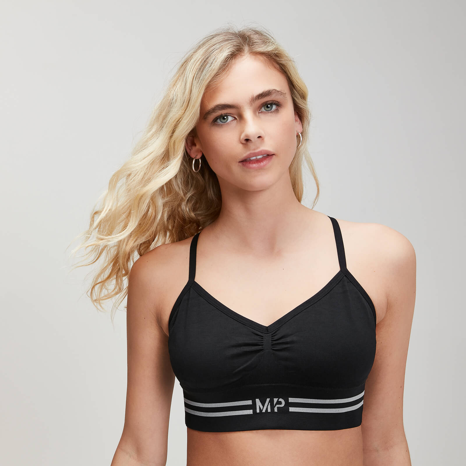 MP Damen Essentials Seamless Bralette - Schwarz - XL von MP