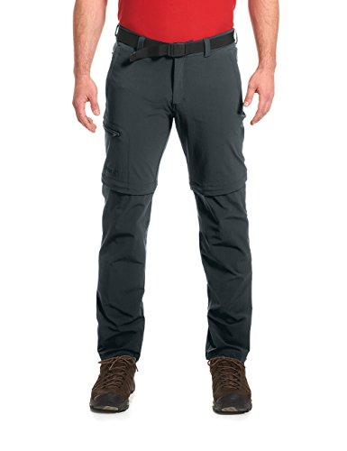Maier Sports Herren Outdoor Hose T-Zipp Tajo, Graphite, 34 von Maier Sports