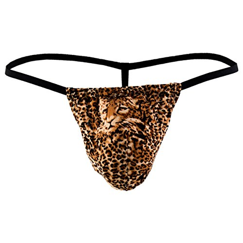Male Power - leopard Lace - Posing Strap - braun leopard - OS von Male Power