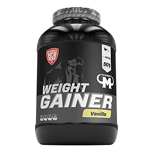 Mammut - Weight Gainer Crash 5000 Vanille Kohlenhydrate Masseaufbau Kreatin, 4500 g Dose von Mammut Nutrition