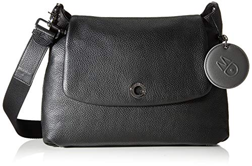Mandarina Duck Damen MELLOW LEATHER Handtasche, Black, Taglia Unica von Mandarina Duck