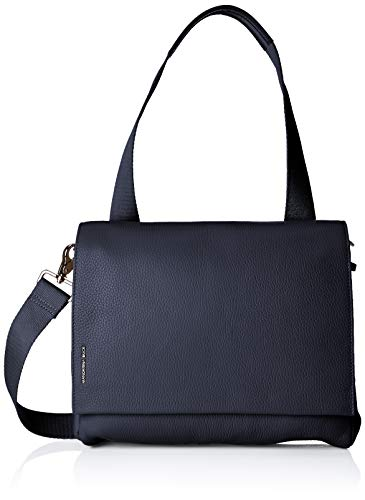 Mandarina Duck Mellow Leather Tracolla, Damen Shopper, Blau (Dress Blue) von Mandarina Duck