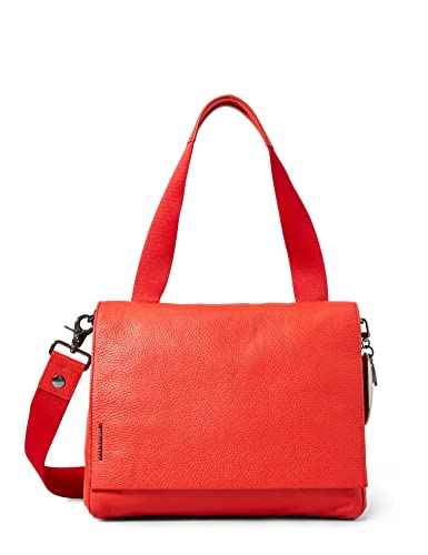 Mandarina Duck Mellow Leather Tracolla, Damen Shopper, Rot (Lacquer) von Mandarina Duck