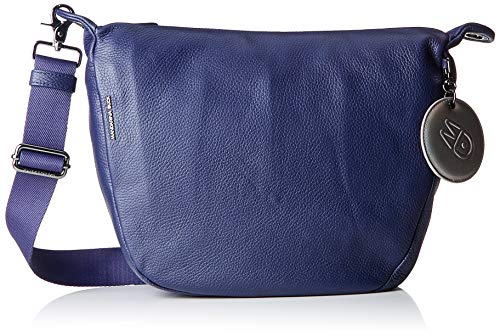 Mandarina Duck Mellow Leather Tracolla, Damen Umhängetasche, Blau (Dress Blue) von Mandarina Duck