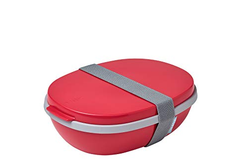 Mepal Ellipse Lunchbox, PP/TPE, Nordic red, One Size von Mepal