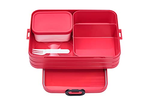 Mepal Take a Break Bento Lunchbox, abs, Nordic Red, One Size von Mepal