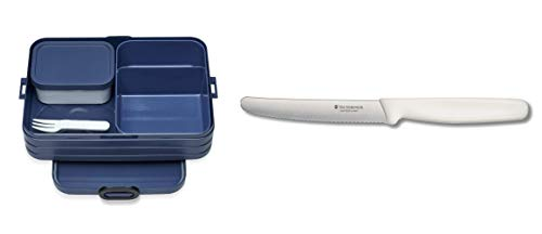 Mepal bento-Lunchbox-take-a-Break-Large, TPE/pp/abs, 0 mm (Nordic Denim Set) von Mepal