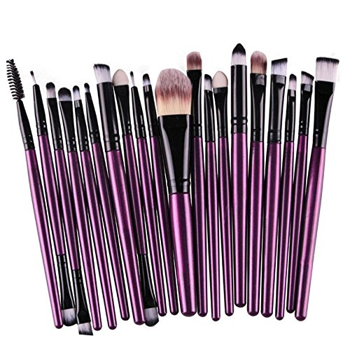 Milopon Lidschattenpinsel Augenbrauenbürste Eyeliner-Pinsel Make-up-Pinselsatz Foundation Pinsel Schminkpinsel für Frauenmädchen 20pcs von Milopon