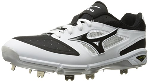 Mizuno Men's Dominant IC Baseball Shoe, White/Black, 7 D US von Mizuno