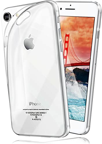 moex Apple iPhone 7/8 | Hülle Silikon Transparent Klar Clear Back-Cover TPU Schutzhülle Dünn Handyhülle für iPhone 7/8 Case Ultra-Slim Silikonhülle Rückseite von moex