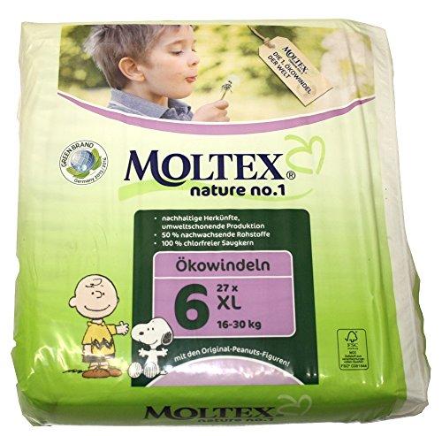 Karton MOLTEX pure /& nature /Öko-Windeln Babywindeln XL Gr 6 16-30 kg 105 St.