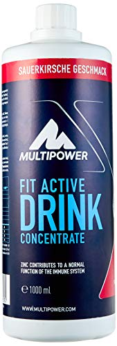 Multipower Fit Active Drink Concentrate Sour Cherry, 1 l von Multipower