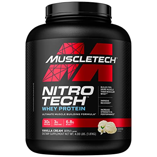Muscletech Nitro-Tech Performance Series - Vanilla, 1er Pack (1 x 1.8 kg) von MuscleTech