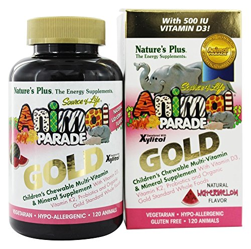 Animal Parade Gold Multivitamin 120 Lutschtabletten Wassermelonegeschmack von Nature's Plus