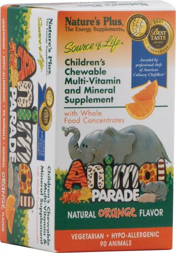 Animal Parade Multivitamin 90 Kautabletten Orangengeschmack von Nature's Plus