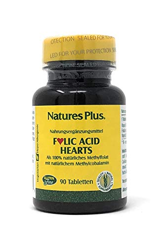 Natures Plus Folic Acid Hearts (Folsäure Herzen) 90 Tabletten von Nature's Plus