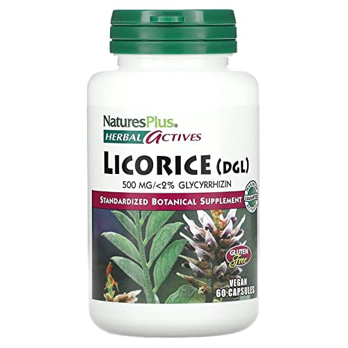 Licorice (DGL) 500 mg (Süßholz) 60 veg. Kaps. NP (vegan) von Nature's Plus
