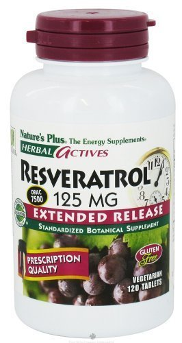 Nature's Plus - Herbal Actives Resveratrol 125mg, Extended Release (1-Pack of 120) by Nature's Plus von Nature's Plus