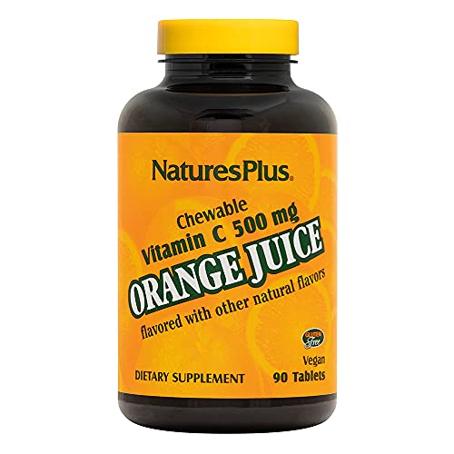 Orange Juice Vitamin C 500 mg 90 Lutschtabletten NP von Nature's Plus