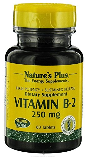 Natures Plus Vitamin B-2 (Riboflavin) 250mg 60 Tabletten S/R (42g) von Natures Plus