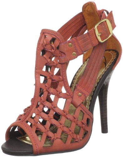 Naughty Monkey Damen Casting Call Offene Sandalen, Rot (Rust), 40.5 EU von Naughty Monkey