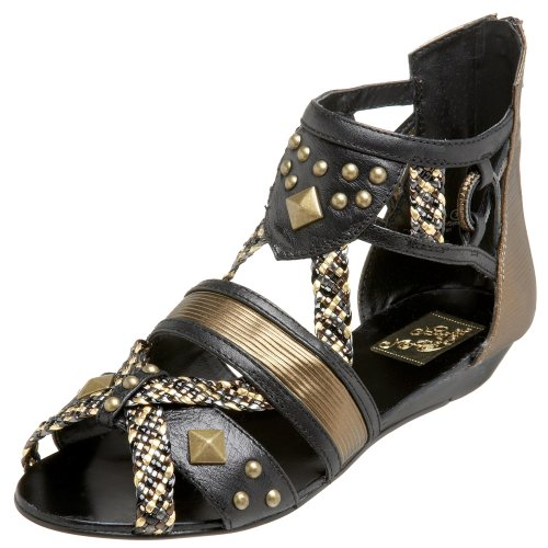 Naughty Monkey Damen Exhibit A Gladiator Sandalen, Mehrere (Multi-Metallic), 38 EU von Naughty Monkey