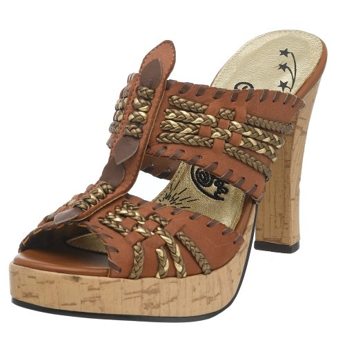 Naughty Monkey Damen Gold Card Kork Plateau Sandale, Braun (Toffee), 38.5 EU von Naughty Monkey