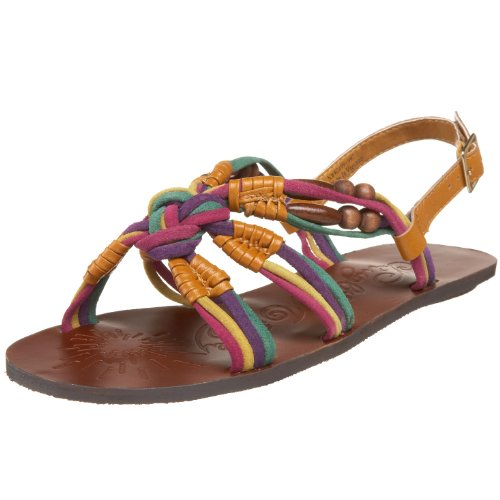 Naughty Monkey Damen Hissy Fit Sandalen, Gold (Multi Brites), 40.5 EU von Naughty Monkey