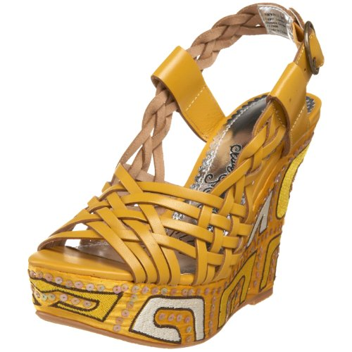 Naughty Monkey Damen Liggy Sandalen, Gelb (gelb), 38 EU von Naughty Monkey