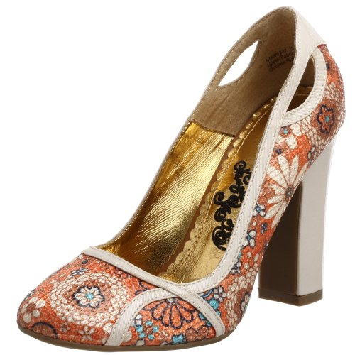 Naughty Monkey Damen Pailletten Bouquet Pumps, Braun (hautfarben), 40.5 EU von Naughty Monkey