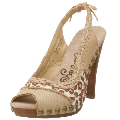 Naughty Monkey Damen Stud-lee Slingback Pumps, Beige (Natur), 40.5 EU von Naughty Monkey