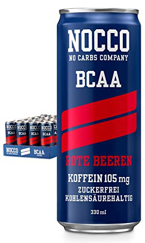 Nocco BCAA, Red Berries (24 x 330 ml) von Nocco