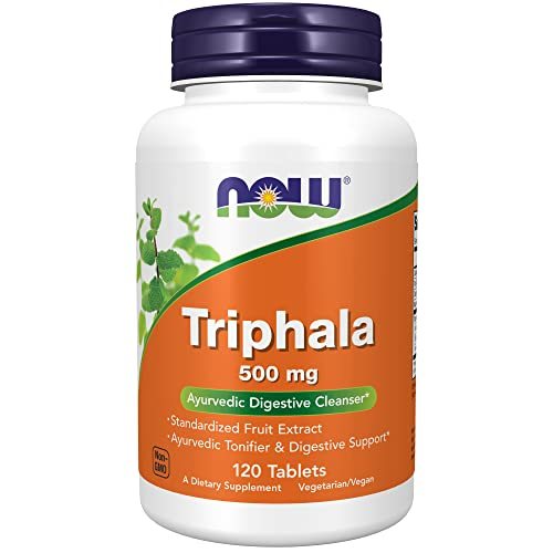 Now Foods Triphala 500mg Harada Amla Behada 120 Tabletten von Now Foods