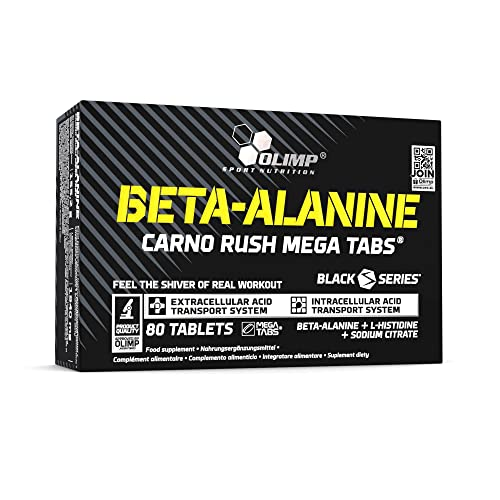 Olimp Beta-Alanine Carno Rush 80 Tabletten, 1er Pack (1 x 138 g) von Olimp
