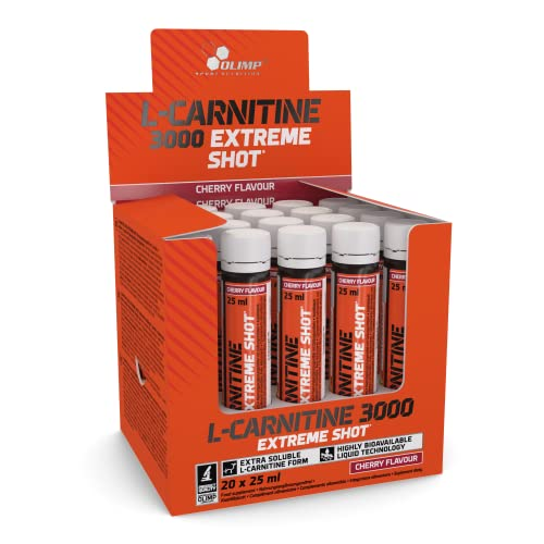 Olimp L-Carnitine Forte 3000 Extreme Shot Kirsche 20 x 25 ml, 1er Pack (1 x 500 ml Packung) von Olimp