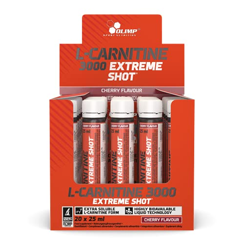 Olimp L-Carnitine Forte 3000 Extreme Shot Orange 20 x 25 ml, 1er Pack (1 x 500 ml) von Olimp