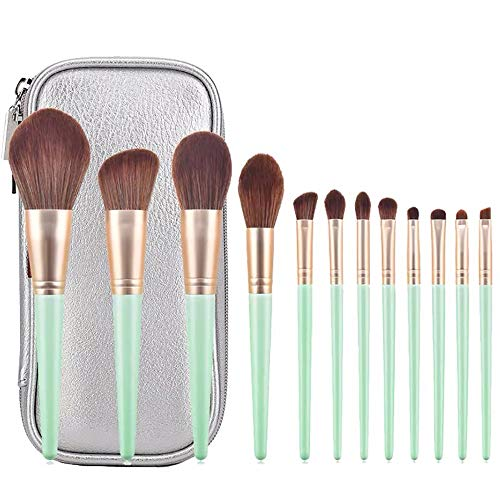 12-teiliges Make-up-Pinsel-Set, professionelle Rouge-Pinsel, Foundation-Pinsel, Beauty-Tools von Omenluck